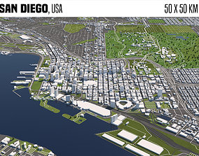 3D model San Diego