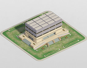 3D model low-poly Campus