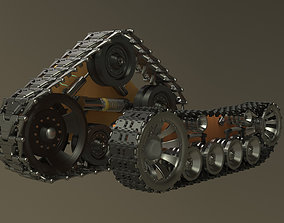 Caterpillar fantasy 3D rigged