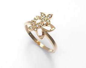 Ring Three butterflies STL 3D print model