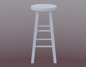 3D model low-poly Bar Stool