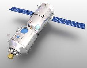 3D model Shenzhou7 Spaceship earth Tiangong1 spacecraft 1