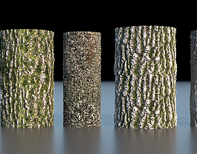 Tree Bark 4k Seamless texture set of 7 wooden 3D model