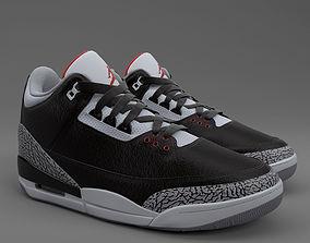 Air Jordan 3 Retro PBR 3D model