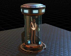 sci fi clone capsule 3D model