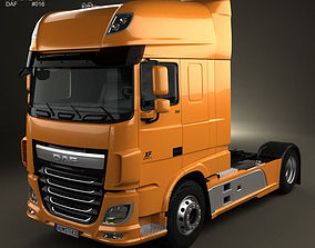 DAF XF Tractor Truck 2013 3D