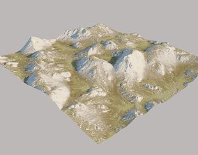 3D Scottisch Highland Landscape Surface
