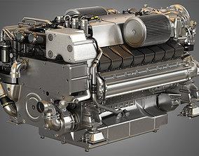 V16 2000 Engine - Yacht Turbo Engine 3D