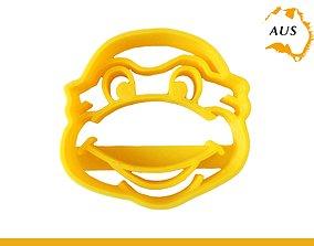 3D printable model TMNT Ninja Turtle Cookie Cutter Fruit 3