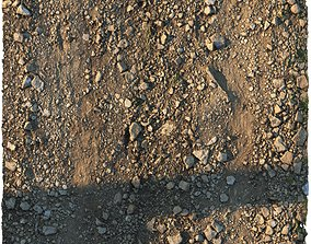 3D model Rocky narrow road material