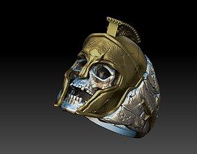 skull spartan ring 3d model 3D print model
