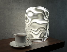 Generative design Wave lamp 4 high quality 3D print model