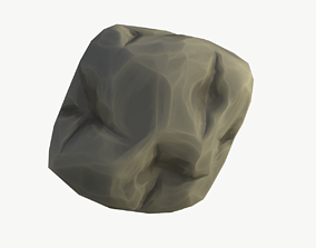 Cartoon Lowpoly Big Asteroid 3D asset