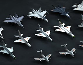 3D model Chinese Air Force PLAAF airplane plane