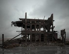 3D model destroyed building 102 am165