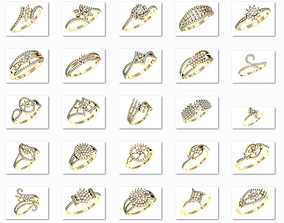3D printable model 99 WOMEN RING FILES LESS THAN 3 GM 1