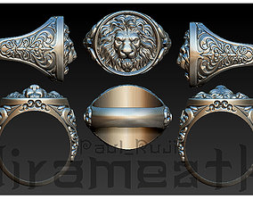 Lion Head Gothic Ring 3D print model