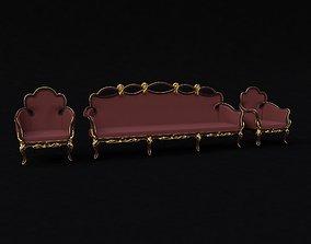 3D sofa with armchair