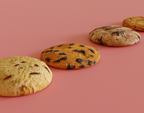 3D asset low-poly Low poly Cookies