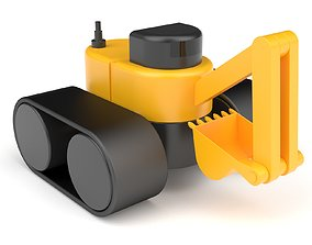 3D Plastic toy excavator