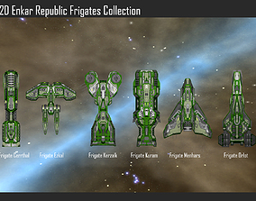 2D Enkar Republic Frigates Collection 3D