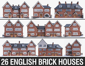 English Brick Houses Collection - 26 Pack 3D model