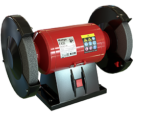 Bench grinder CLEAN Game-Ready 3D model