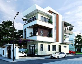 3D model animated Villa Design