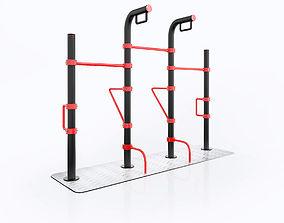 outdoor street fitness workout equipment 3D
