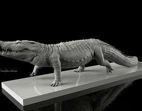 statue Nile Crocodile Walking Pose 3D Model Decimated