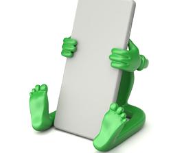 Cartoonish Mobile Holder 3D model