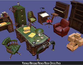 3D model Vintage Office Asset Pack