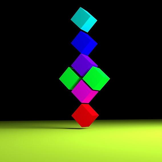 crazy cube art