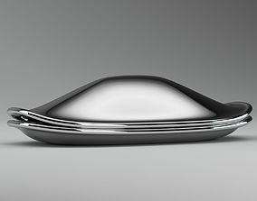 3D Silver Metal Fish-Sculpture