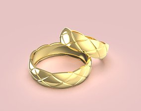 3D print model Quilted motif ring