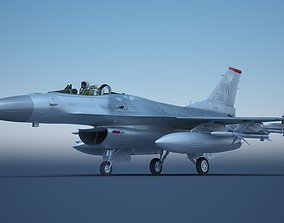 F - 16 fighter F16 Fighting Falcon 3D asset