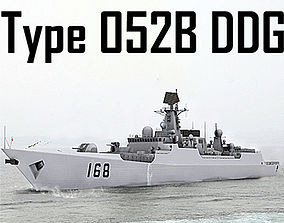 Chinese Navy Type 052B Luyang Class Missile 3D asset