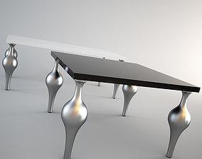 Moda Milan dining tables set 3D model white