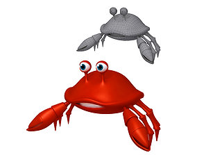 animal 3D Crab cartoon