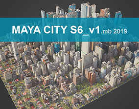 City S6-v1 MAYA 3D asset