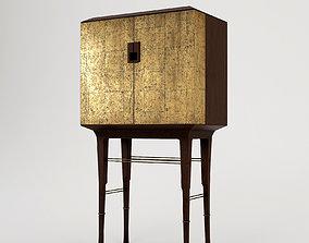 vray Baker Kiosk Butlers Cabinet 3D