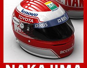 Helmet F1 2009 Kazuki Nakajima 3D