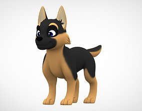 3D asset German Shepherd Puppy