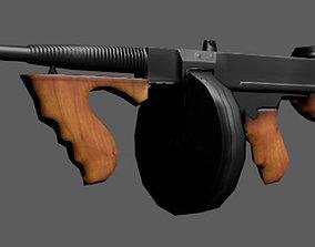 game-ready Tommy Gun 3D model