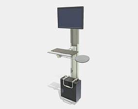 Low Poly PBR Digital Kiosk 3D asset