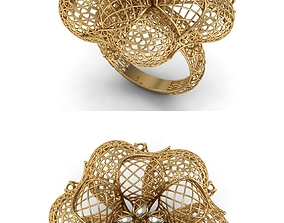 GOLD RING 3D print model ring jewelry