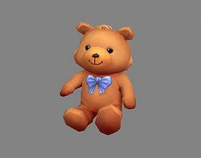 Cartoon teddy bear doll 3D asset