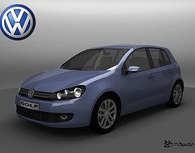 Volkswagen Golf VI 5doors 2009 3D model