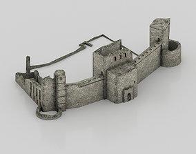 Old ruined castle 3D model