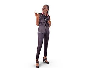 3D asset Black Business Woman Discuss